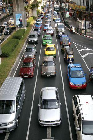 heavy traffic in a city