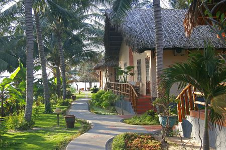 bungalows: bungalow in tropical resort