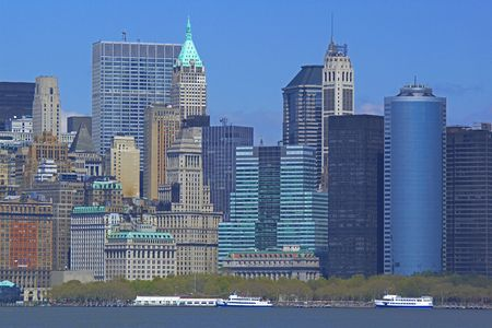 highrises: skyscrapers in NYC Stock Photo