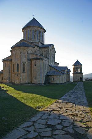 gelati: old church in Gelati monastery, Georgia Stock Photo