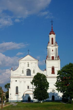 frontal view: catholic cathedral, frontal view