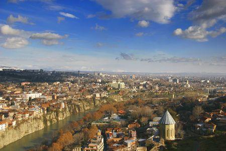 tbilisi: Tbilisi, Georgia, vista sulla citt�
