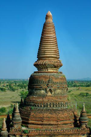 redbrick: old red-brick temple (Bagan, Myanmar) Stock Photo