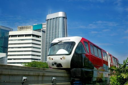 monorail in city