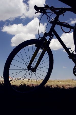 silhouette of bicycle Stock Photo - 1222736