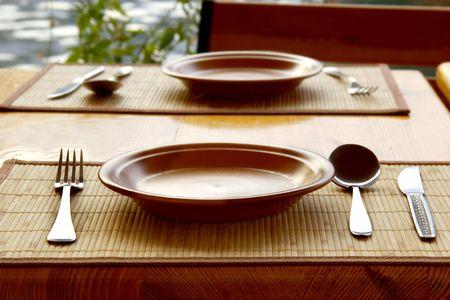 bar ware: tableware served for mealtime