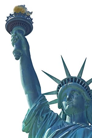 Statue of lliberty over white Stock Photo - 2139651