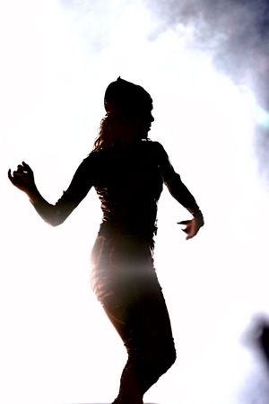 silhouette of a dancing girl Stock Photo - 2170557