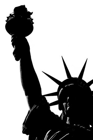 Statue of liberty over white Stock Photo - 2245076