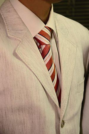 male tuxedo in beige formal suite Stock Photo - 2314467