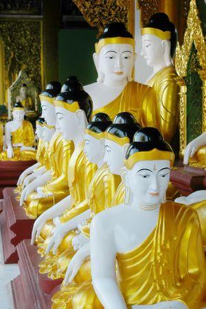 budda: budda statues in buddist temple