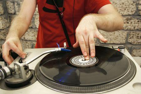 dj at sound mixer Stock Photo - 2544248