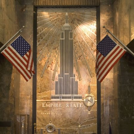 entrance hall of empire state building, nyc, usa photo