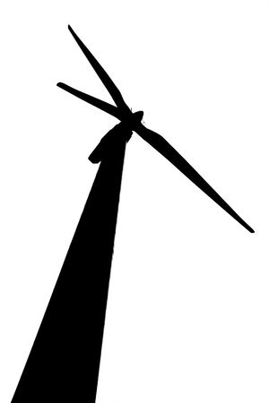 silhouet van wind turbine via Wit