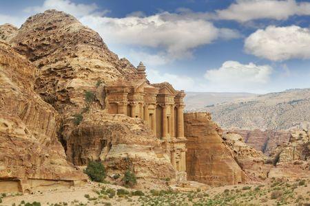 petra  jordan: petra, jordan, monastery