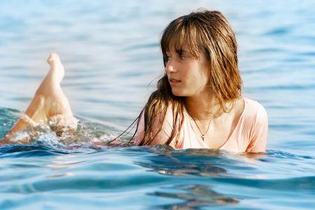 water nymph: beautiful girl in water