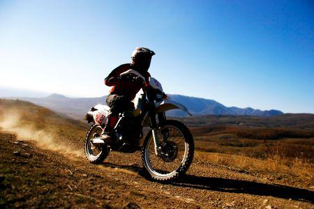 motorcross: moto deporte Foto de archivo