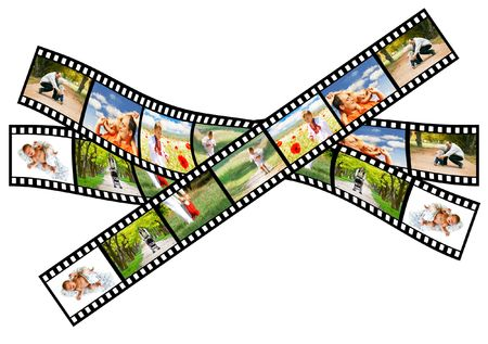 from baby to toddler - the whole life on a filmstrip photo