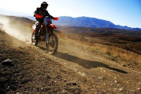 supercross: moto racer en route Stock Photo