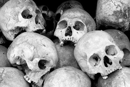 atrocity: human skulls