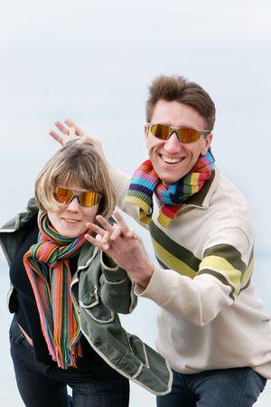 young couple having fun Stock Photo - 4300163