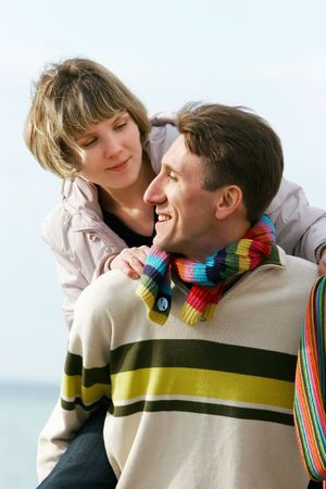 young couple having fun Stock Photo - 4299936