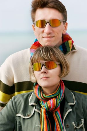 young couple in sunglasses Stock Photo - 4299864