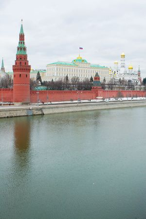 kreml: red square and moscow river view in winter