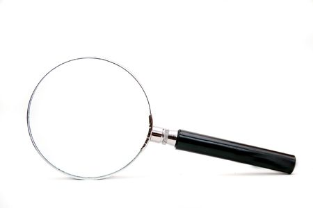 magnifier isolated on a white background Stock Photo - 4362391