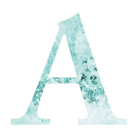 letter A of water alphabet photo