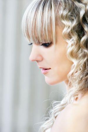 young beautiful bride portrait Stock Photo - 5583663