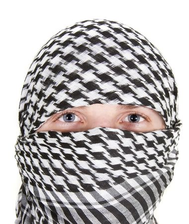 purdah: close up of young guy in shemag Stock Photo