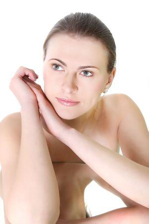 portrait of attractive woman over white Stock Photo - 7768551
