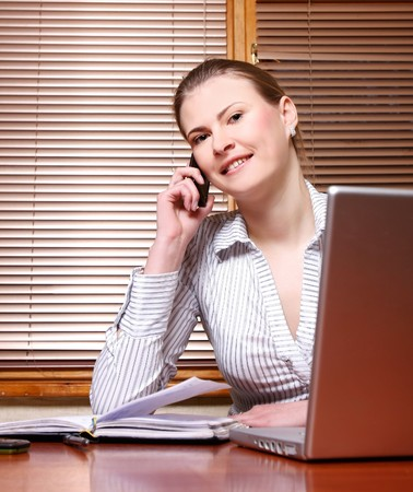 attractive business woman at work Stock Photo - 7769927