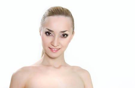 studio portrait of young beautiful woman photo