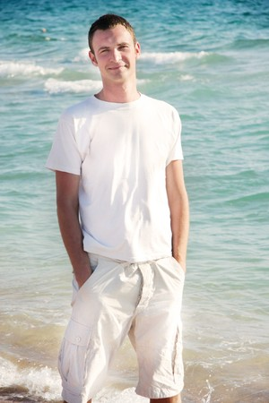 young man on sea background Stock Photo - 7791249