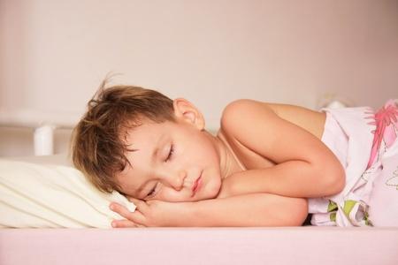 durmiendo retrato de niño