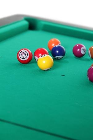 billiard balls on table Stock Photo - 13035307