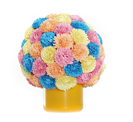 quilling: paper flower ball, quilling Stock Photo
