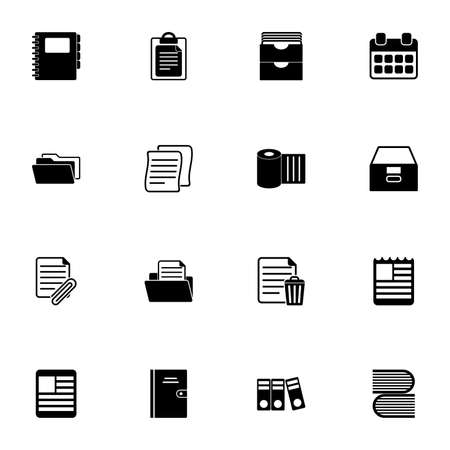 Documents icon - Expand to any size - Change to any colour. Perfect Flat Vector Contains such Icons as paper document, newspaper, attachment file, calendar, sheet, books, office folders, note, archive 向量圖像
