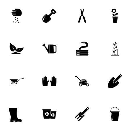 Garden icon - Expand to any size - Change to any colour. Perfect Flat Vector Contains such Icons as sprinkler, lawn, flower, mower, seed, grass, agriculture, boot, fertilizer, gardening, glove, leaf