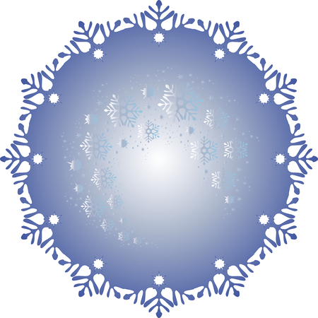 blizzards: Frosty ball covered with a pattern of frost in the form of blizzards.  vector illustratio