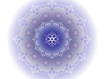 petite: Petite snowflakes that are inside large snowflake. Frosty ball covered with a pattern of frost in the form of blizzards. EPS10 vector illustration.