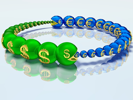 devastate: Voracious caterpillars are chasing each other and for the money. 3D graphics
