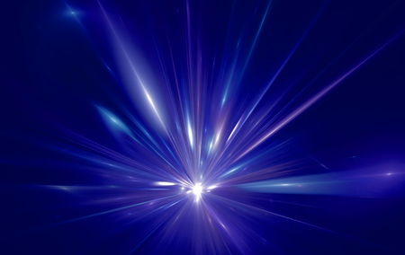 Shining a fantastic radial blast blue tint. Fractal art graphics