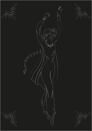 medieval dress: Chica en traje medieval y la corona. EPS10 ilustraci�n vectorial Vectores