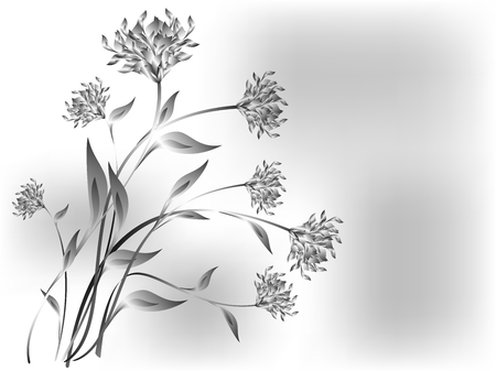 Meadow flowers on a grey base.