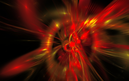 reminiscent: Abstract background reminiscent of red magnetic fields. Fractal art graphics Stock Photo