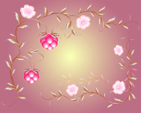raspberry pink: Pattern of beautiful raspberry and pink flowers. EPS10 vector illustration.