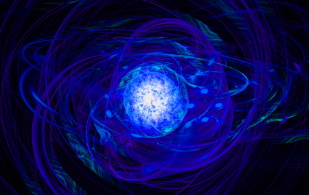 gossamer: Abstract blue swirl on the basis of the dark. Fractal art graphics. Stock Photo